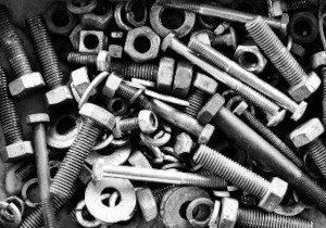 Изделия крепежные резьбовые из черных металлов, не включенные в другие группировки